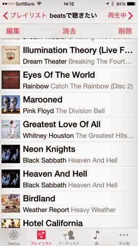 beatsで聴きたい音楽リスト