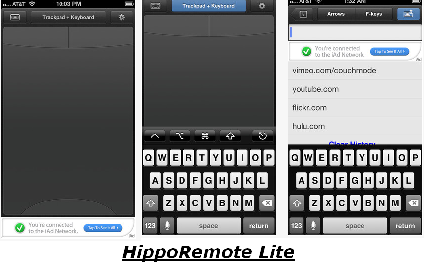 hipporemote lite for iOS
