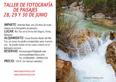 TALLER FOTOGRAFIA, RIO TUS, SIERRA DEL SEGURA, YESTE, ALBACETE
