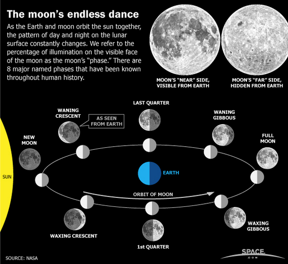 pictures of moon phases in order. 8 moon phases in order. more