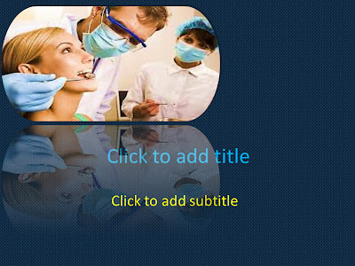 2013 free medical powerpoint templates medical ebooks medical this is a medical powerpoint template that will suit all dental powerpoint presentations it has an image of a dentist examining the teeth of a patient toneelgroepblik Choice Image