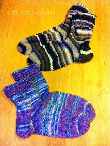 selbstgetrickte Socken