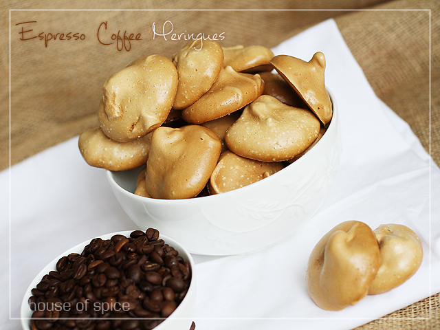 House Of Spice: Espresso Coffee Meringues