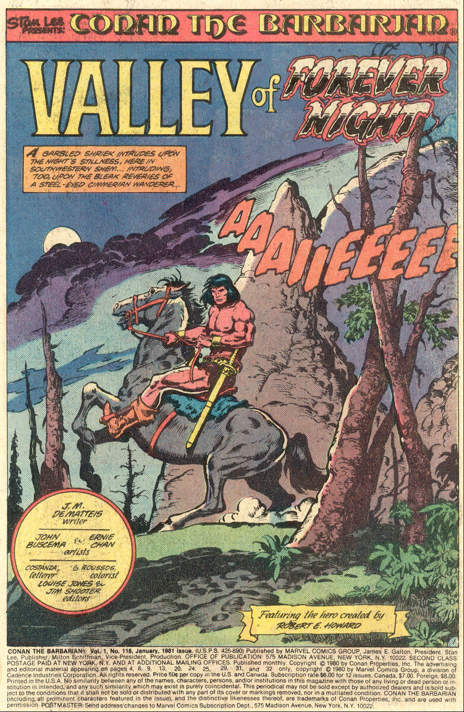 Conan the Barbarian (1970) Issue #118 #130 - English 2
