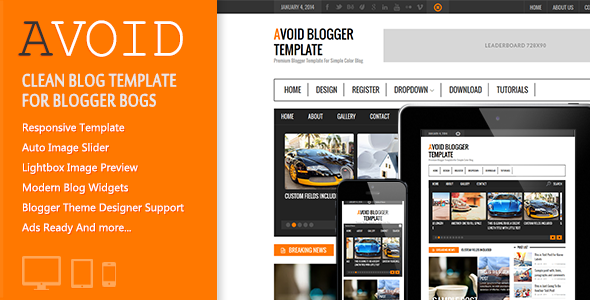 Avoid Blogger Template - Simple And Clean