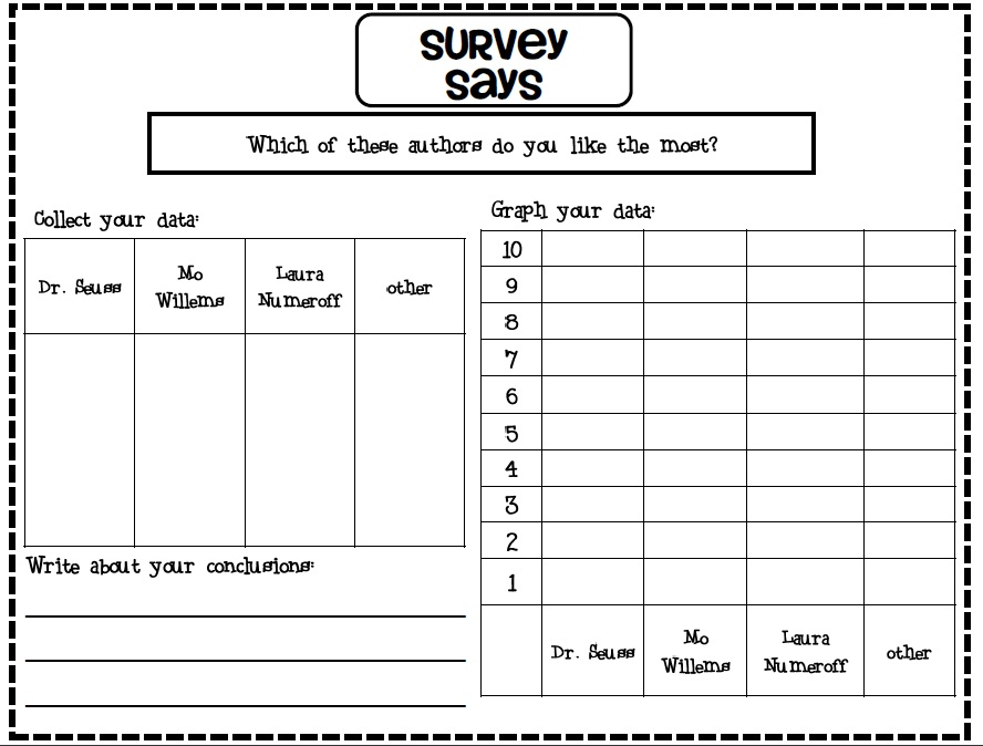 how to create line graph from survey