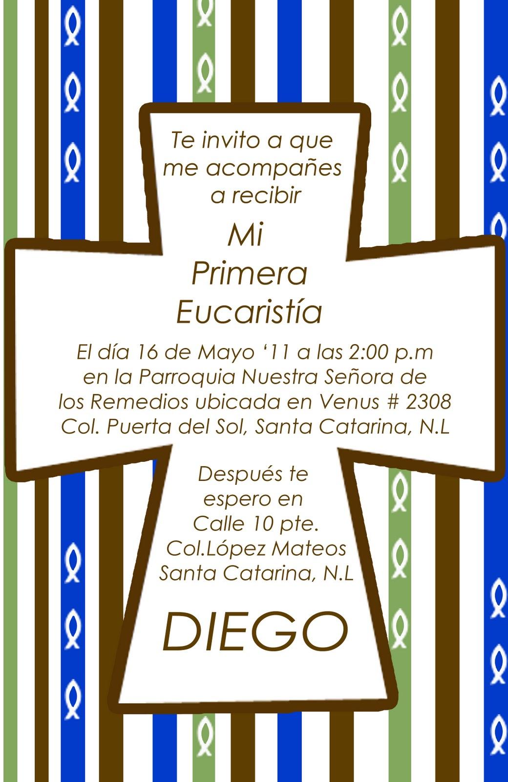 INVITACIONES PARA TU PRIMERA COMUNION !