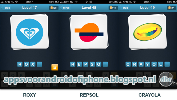 Logo Quiz Nederlands cheats en antwoorden level 47 48 en 49