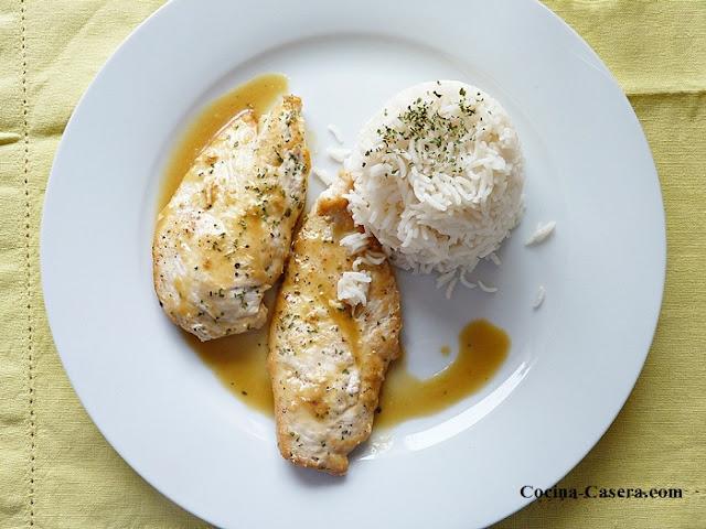 Pechugas de pollo en salsa de lim n recetas de cocina - Pechugas de pollo al limon ...