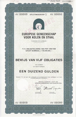 specimen bond of the European Community for Coal and Steel