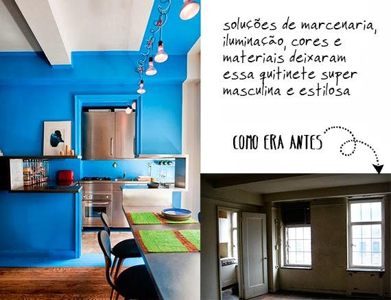 quitinete estilosa - apartamento de homem - aproveitar espaço - antes e depois - solução de marcenaria - casa pequena