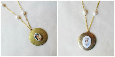 image vintage cameo locket necklaces gold freshwater pearls two cheeky monkeys wuthering heights jane eyre bronte