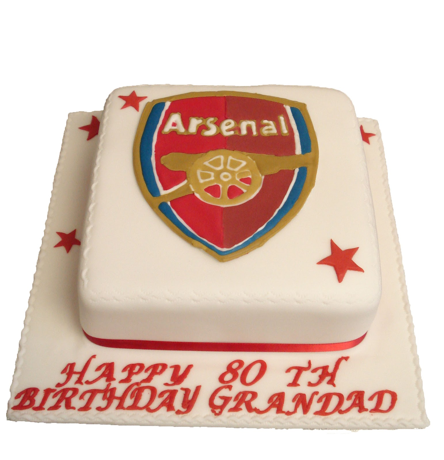 Asda Christening Cake Decorations : Brigitta s Cakes: Arsenal Cake