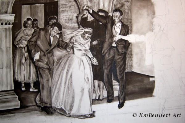 Painting: Wedding Party 01 progress 3