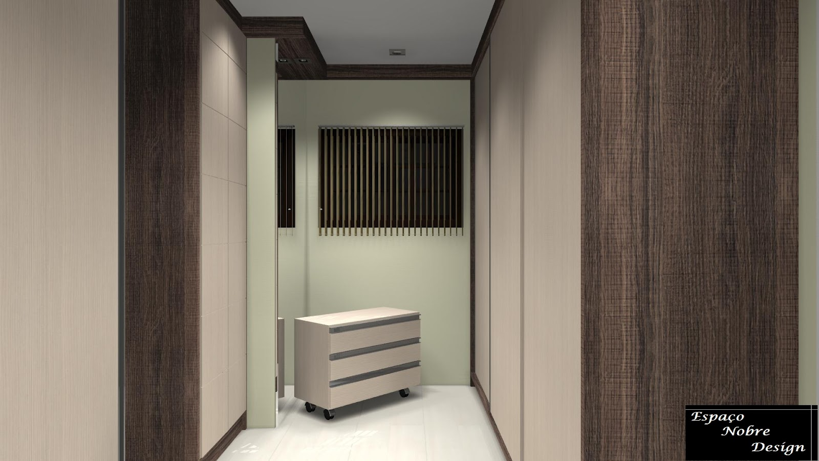 Espa o nobre design dormit rio de casal c closet for Closet rusticos