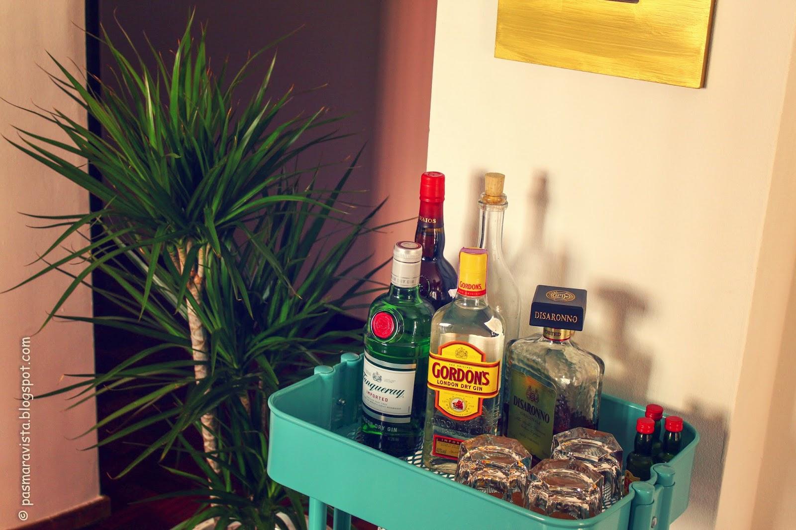 Bar cart decoration