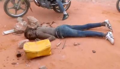 Ladron Atropellado con Moto