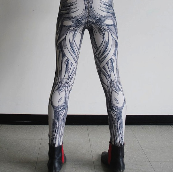 hand-printed leggings