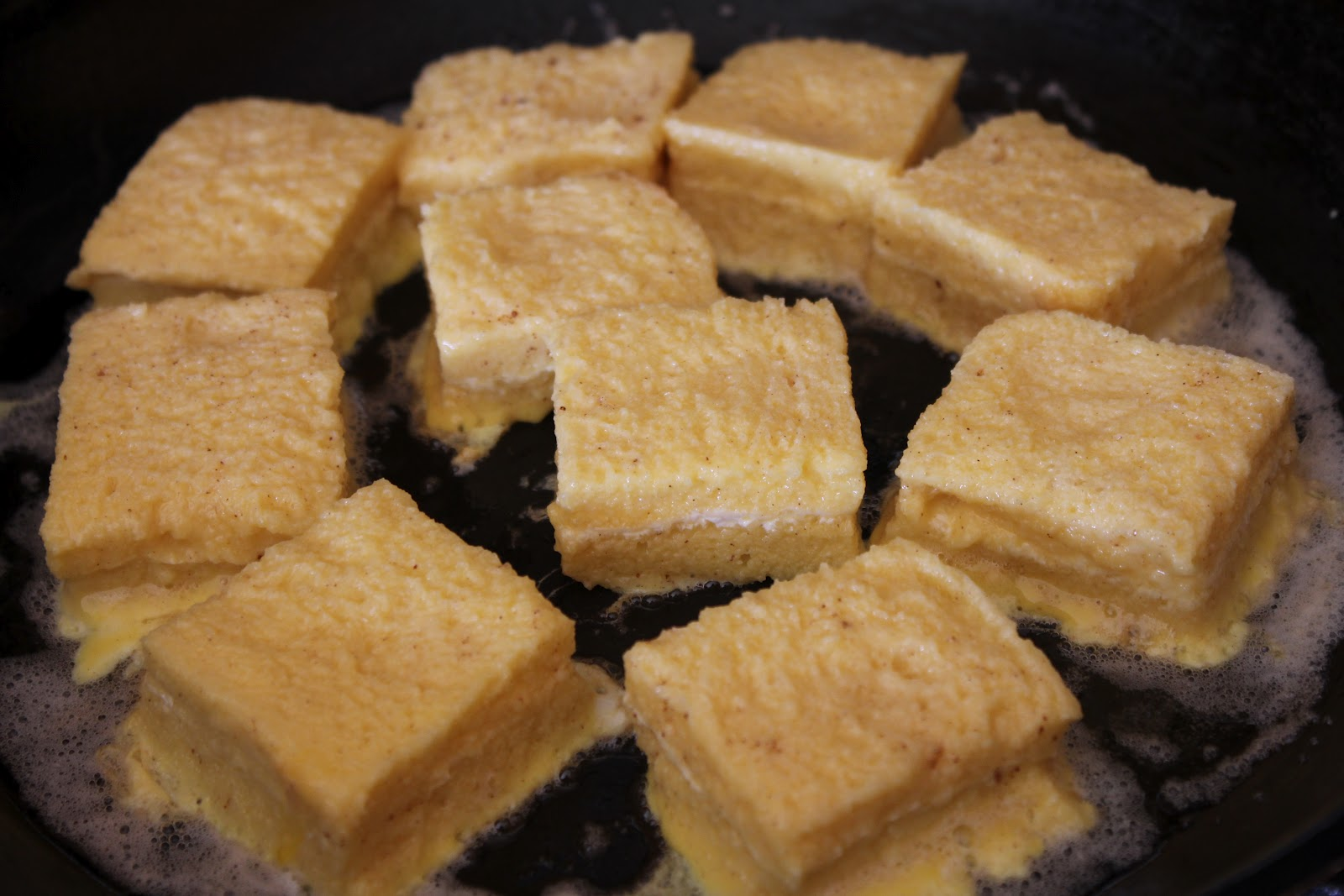 May 2012 Best Of Wardah Step 1 3 Melt One Tablespoon Butter On A Pan Dip The Cubed Bread In Egg Batter And Place Mixture Cook It While Turning