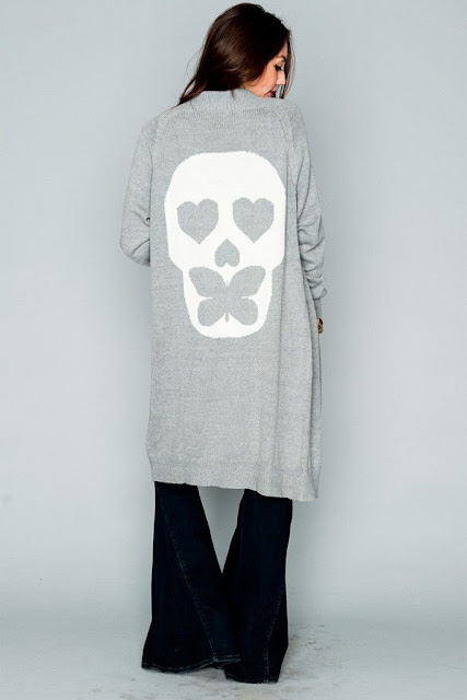 Big Bang Sweater in Butterfly Skull at Fitzroy Boutique