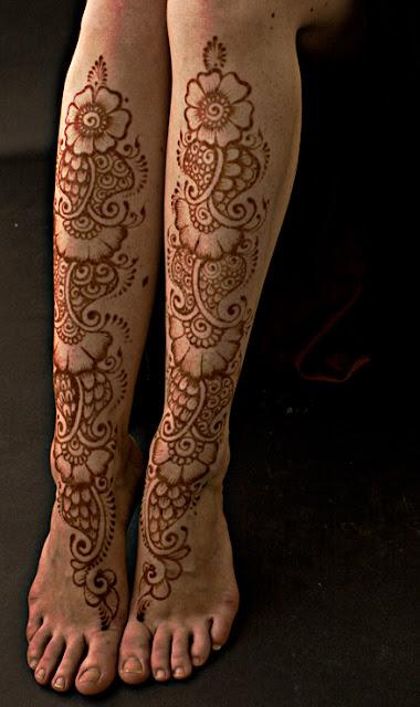 Super Dulhan Mehndi Designs for Feet 2013