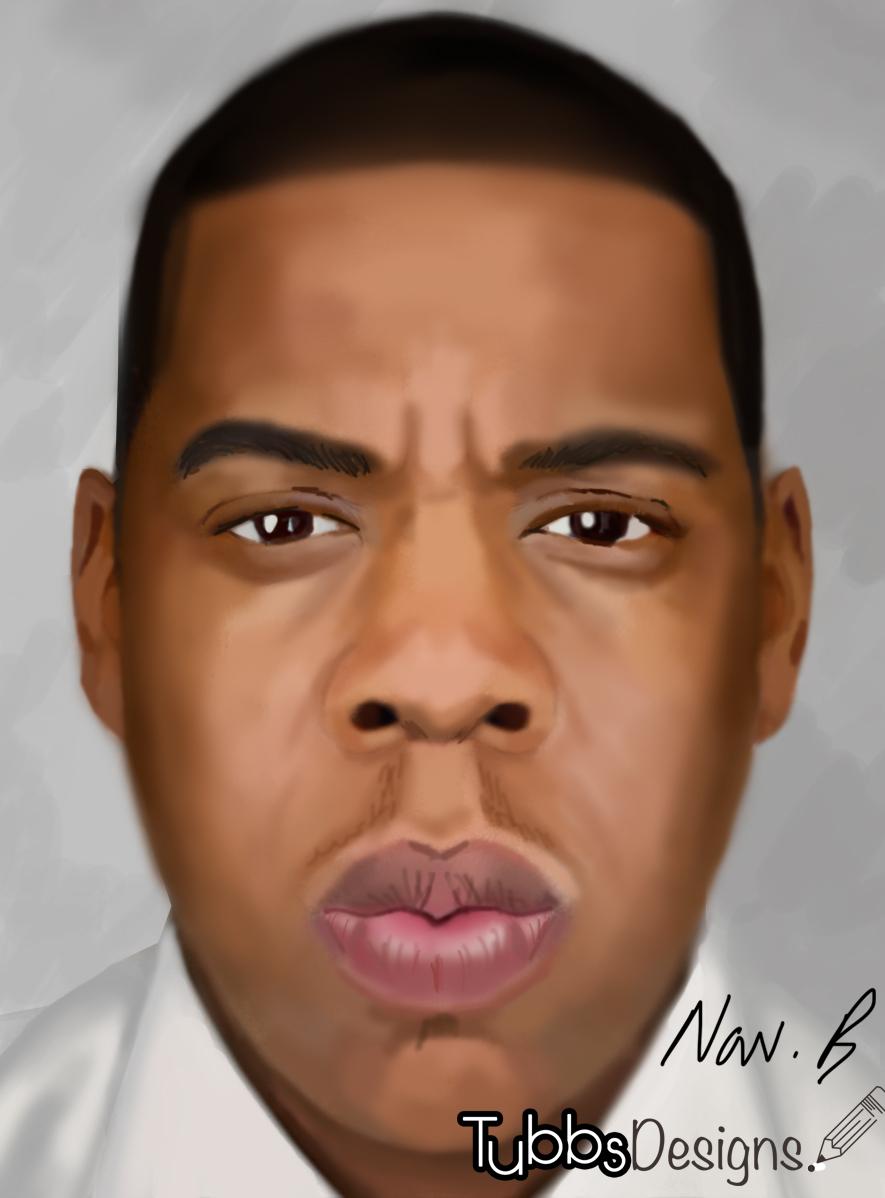 Tubbs Designs - digital sketches: Jay Z sketch - Tubbs designs Jay Z