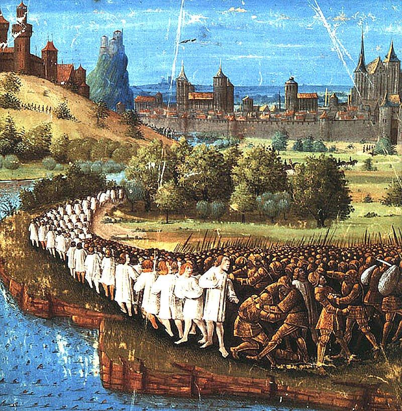 Os crimes dos muçulmanos causaram horror no mundo civilizado.  Massacre dos peregrinos de Pedro o Ermitão
