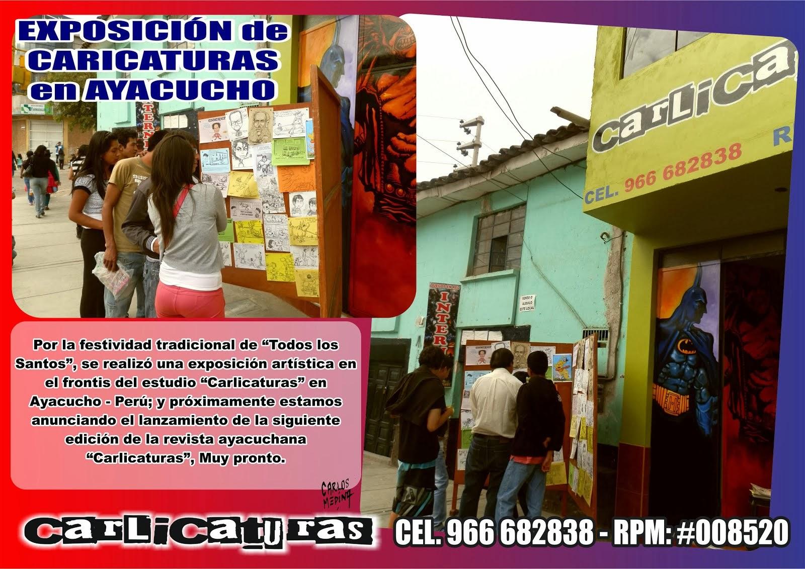 EXPOSICIÓN DE CARICATURAS EN AYACUCHO PERÚ