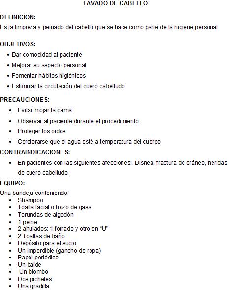 Baño General Del Paciente En Cama:CLASES FUNDAMENTOS DE ENFERMERIA: Lavado de Cabello (shampoo)