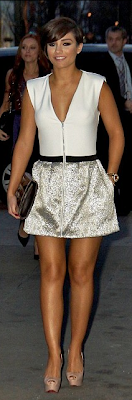 Frankie Sandford, Maje, Metallic, Mini Dress, Zip, Silver, The Saturday's