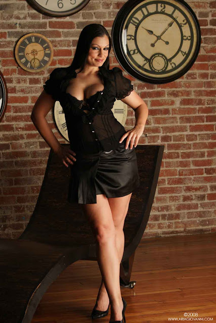 Perfect Girls: Aria Giovanni Hot in Black Dress