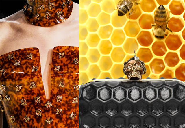 alexander mcqueen sprng 2013, honeycomb, bees
