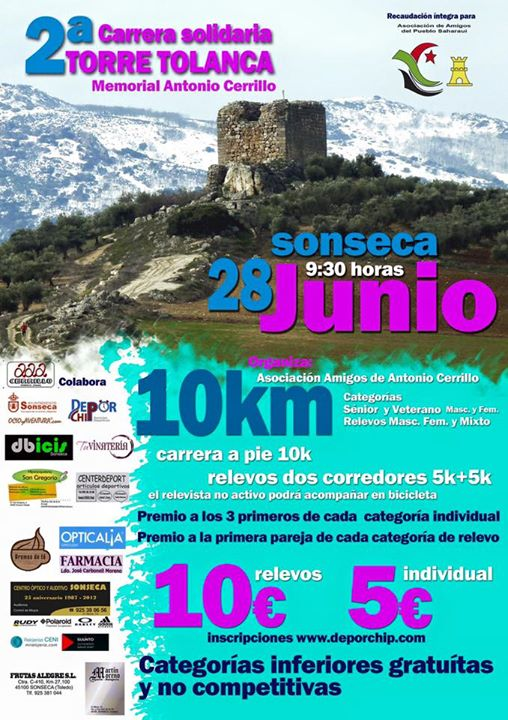 "II Carrera Popular ""Torre Tolanca"" de Sonseca"