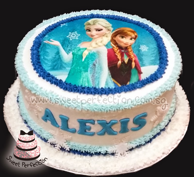 Perfection Cakes Gallery Code F04 Alexis Frozen Anna amp Elsa Cake