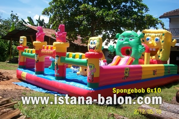 Istana Balon Sponge Bob Ukuran 6x10