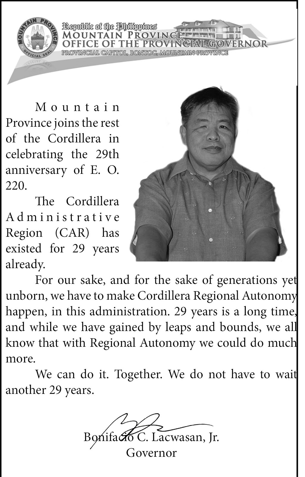 29th Cordillera Month