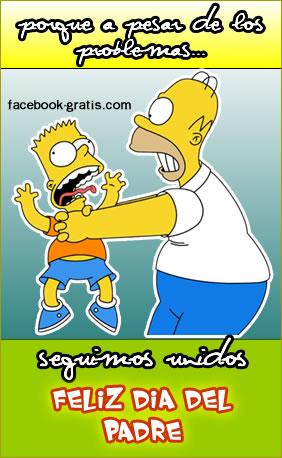 Homero Simpson en el día del padre