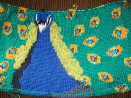 Crochet Parfait: Knitted Peacock Afghan
