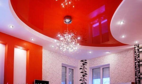 10 red gypsum false ceiling design for living room 2015 for Room design 2015