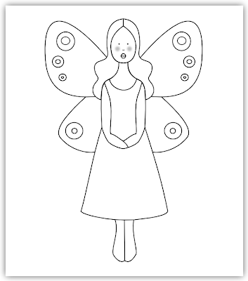 fairy free hand embroidery pattern