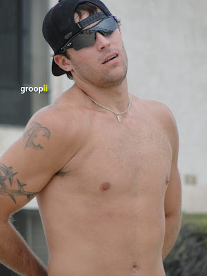 Adam Cabbage Shirtless at Hermosa Beach Open in 2011