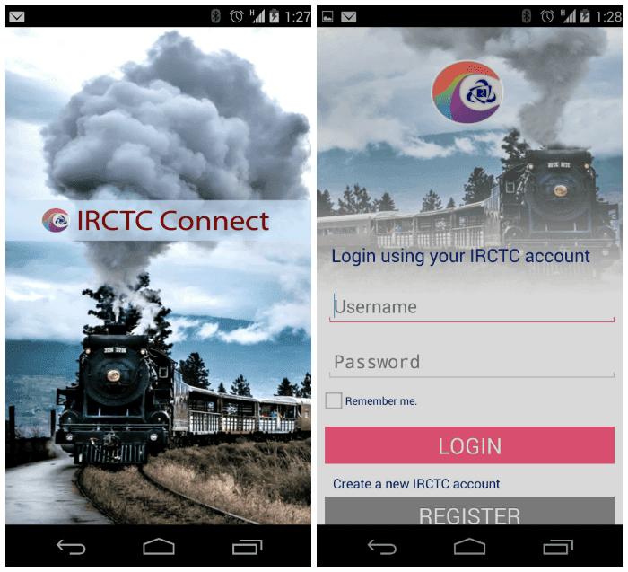 IRCTC Connect Login