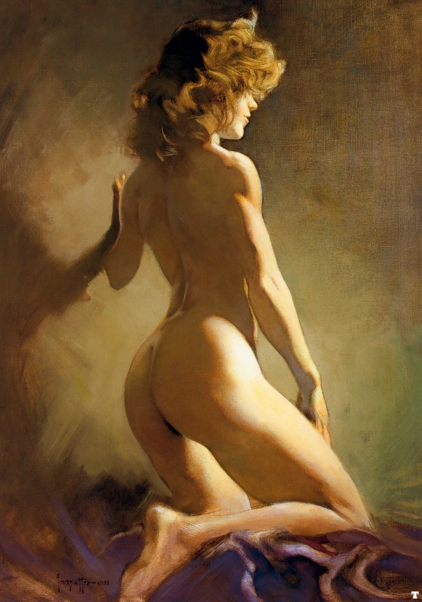 woman Realistic painting nude