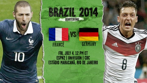 -Experience- World Cup 2014 Quarter Final Match- France Vs Germany