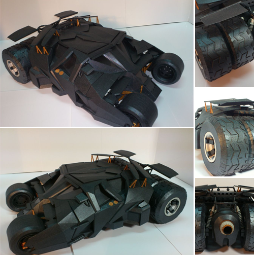 Batman Begins Tumbler Papercraft