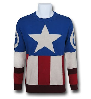Click here to purchase your Captain America uniform sweater at SuperHeroStuff!