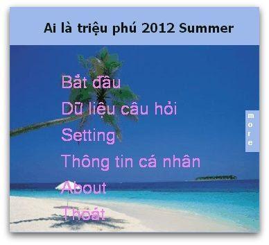"""game """"Ai là triệu phú"""" tiếng Việt miễn phí hay nhất trên"""