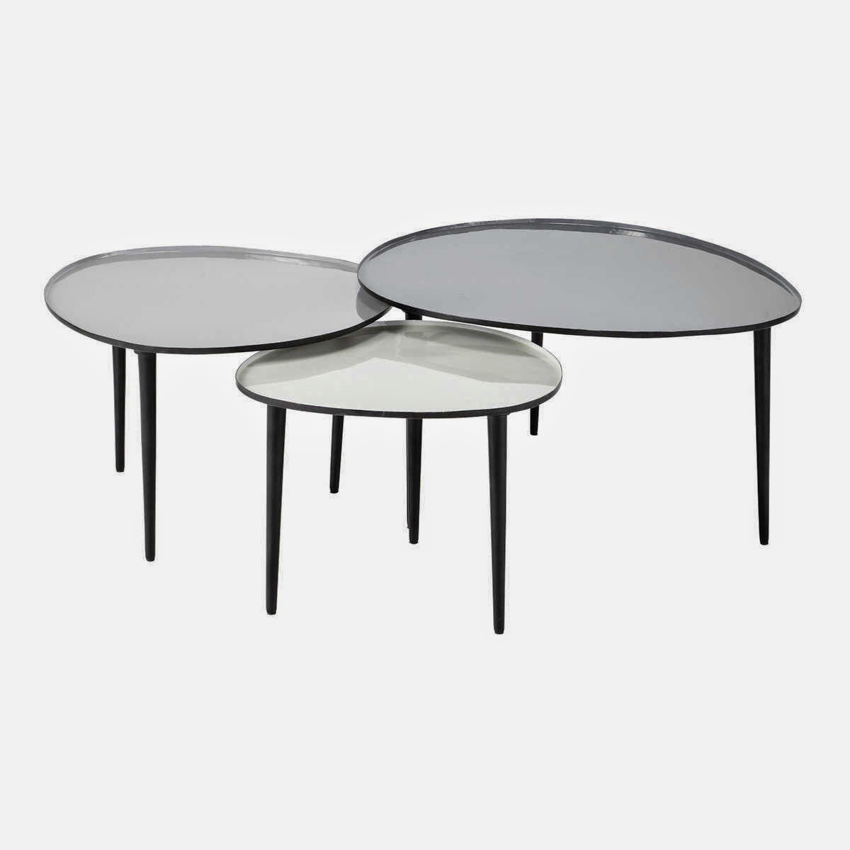 Les tables basses gigognes caract rielle - Table basse ronde gigogne ...