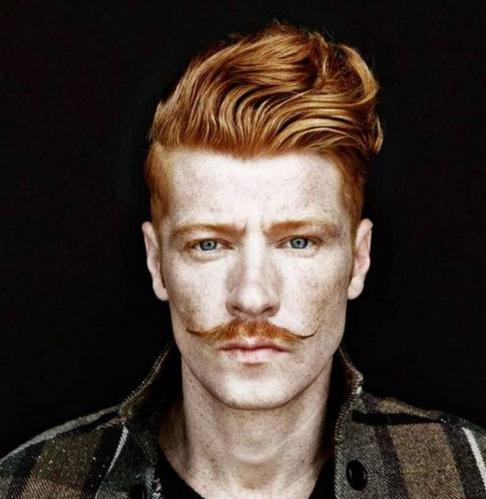 warna rambut untuk pria kombinasi cocok kumis dan alis