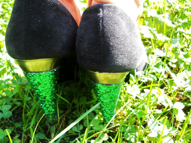 Zrób to sam, buty brokatowe, buty, brokatowe obcasy